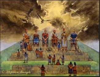Illustration du système d'asservissement de la 3ème dimension terrestre par l'auteur états-unien Stephen Quayle, ayant investigué sur l'origine des anciennes civilisations - Cliquer pour agrandir
