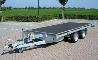 Plattformanhänger O/1052 mit Reling, Innenmaß (cm) 406/198