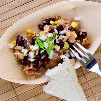 Garnelensalat mit Mango Relish und Gruyère verfeinert