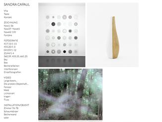 Bildschirmfoto Website Responsive Webdesign Portfolio Sandra Capaul