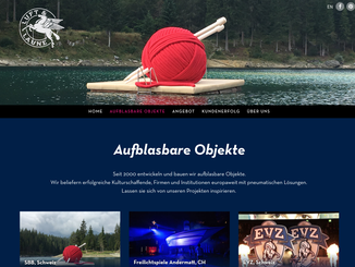Bildschirmfoto Website Responsive Webdesign mobile friendly