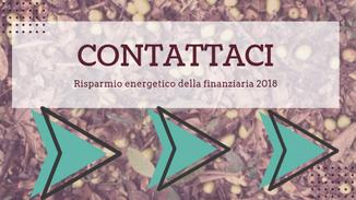 Contattaci per avere maggiori informazioni sul costo delle pratiche enea della detrazione fiscale della finanziaria 2018