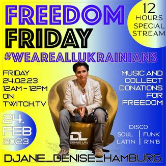 DJ-Live-Streaming mit DJane Denise L' - mit Guter-Laune-ins-Wochenende von 16-19 Uhr