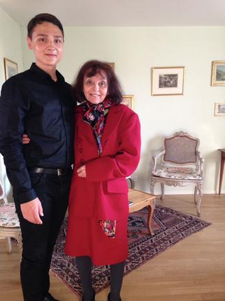 Dmitrii Kim nach dem Abschlusskonzert mit Esther Yellin, 29. 7. 18 in Werthenstein.