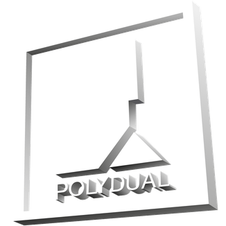 Trojaner Logo in weiss von Polydual | branding3D Philipp Brunschwiler