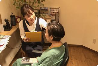 たっぷり時間をかけてカウンセリング|ヘアサロン528【hairsalon528】茅ヶ崎にある髪と地肌に優しいオーガニックヘナカラーの専門店