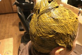 ヘナの塗布完了|ヘアサロン528【hairsalon528】茅ヶ崎にある髪と地肌に優しいオーガニックヘナカラーの専門店