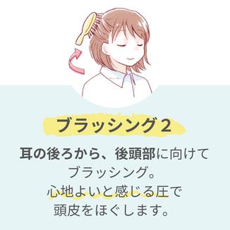 髪の毛のブラッシング方法・ヘアケアシャンプー