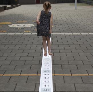 Getallenlijn tot 100 bewegend leren rekenen