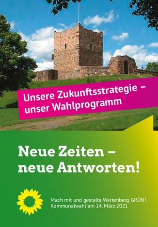 Flyer · Grüne-Wartenberg