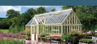 englische Viktorianische Gewächshäuser von Hartley Botanic