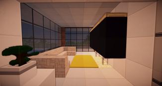 Minecraft TV Raum