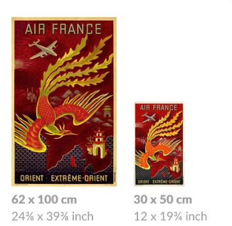 """Air France large and small posters (""""quarter"""")"""