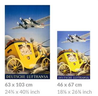 Deutsche Lufthansa large and small posters