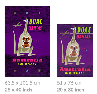 B.O.A.C. large and small posters