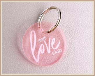 """Anhänger mit Gravur """"self love club"""""""