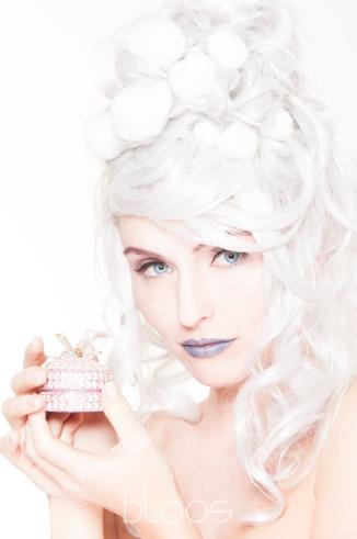 Haare & Make-up / Schülerin: Céline F. Model: Eisprinzessin Sarah M. Produktion: bloos Make-up & Hair Academy Foto: Markus Thiel