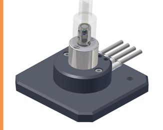 Messvorrichtung Hüftgelenkprothesen - präzise Messtechnik Medizintechnik Knäbel