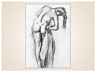 inna-bredereck-auftragsmalerei-kunstwerk-skizze-frau-aktzeichnung-handtuch