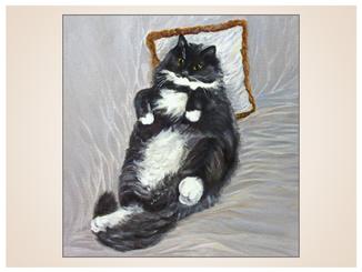 auftragsmalerei-inna-bredereck-oelgemaelde-dicke-katze-kissen-katzenportrait-kunstwerk