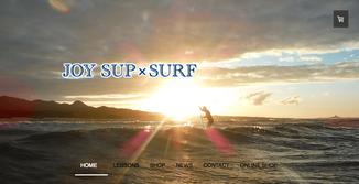 JOY SUP SURFウェブサイト