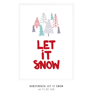 kunstdruck let it snow kaufen