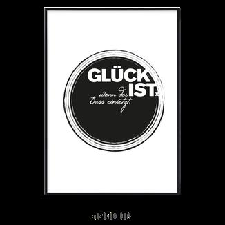 """Kunstdruck """"Glück ist wenn der Bass einsetzt"""""""