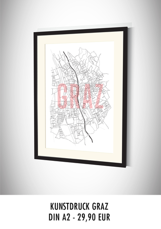DRYES Stadtkarten Poster Graz kaufen