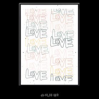 """Kunstdruck  """"love love love"""" kaufen"""