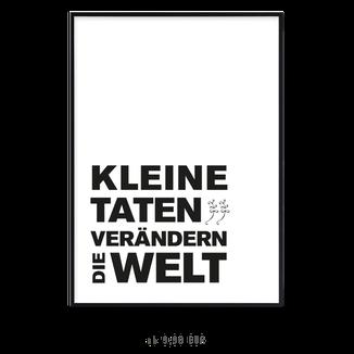 """Kunstdruck """"Kleine Taten verändern die Welt"""""""