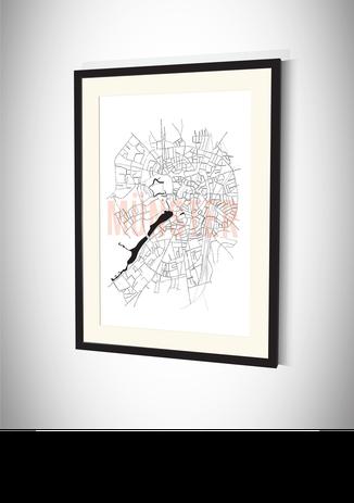 Stadtkarten Poster Münster kaufen