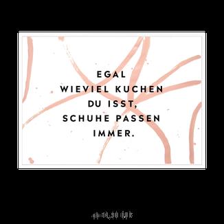 """Kunstdruck """"Schuhe passen immer"""" kaufen"""