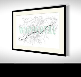 Stadtkarten-Poster Wuppertal kaufen