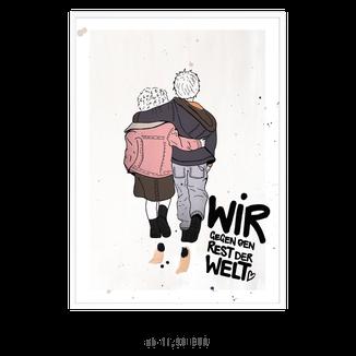 """Kunstdruck """"Wir gegen den Rest der Welt"""" kaufen"""