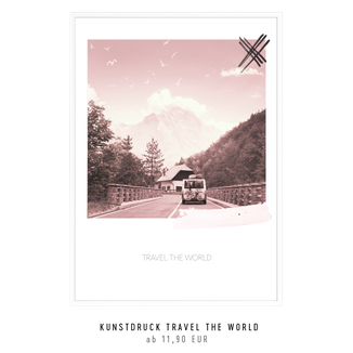 """Kunstdruck """"travel the world2 kaufen"""