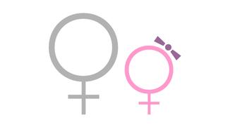 Symbol für Frau und Mädchen