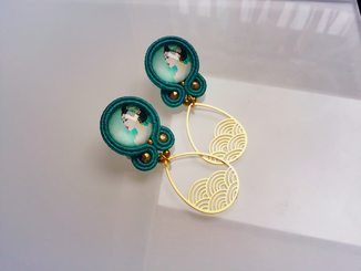 Soutache Statement-Ohrringe Maiko