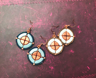 The cooper ones - statmentschmuck, ohrringe by Kinari Handmade Jewellery