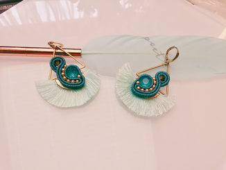 Soutache Statement Ohrringe Martinique, designt by Kinari, handmade