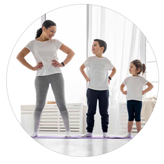 yoga pour les enfants a l association harmonie et bien etre saint pierre de corps. christine videgrain