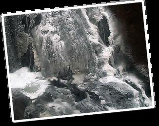 袋田の滝 悠久の宿 滝美館 冬の袋田の滝