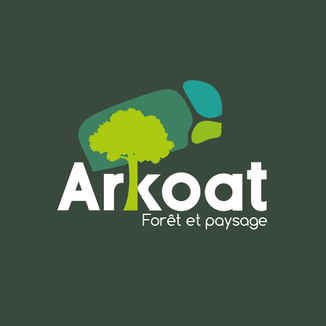 LSZ Communication-Graphiste-Directrice artistique freelance Nantes-Logo-Arkoat-Entretien Forêt Paysage-Vannes