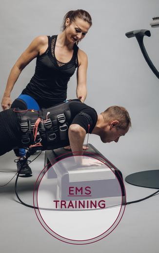 Muskel aufbauen Ems Training Koordination Ausdauer Abnehmen Rücken stärekn Jsa Studer