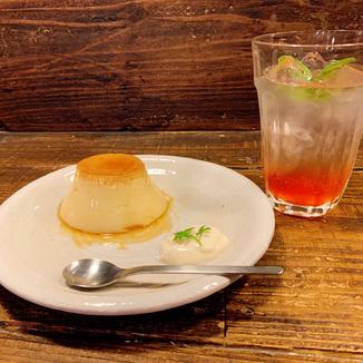 昔風手造りプリン 酵素ジュース カフェ スイーツ