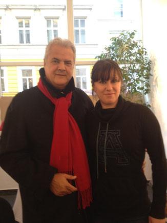 Galerie Time Kulturkreis Wien Günther W.Wachtl Ada Ciornei Adrian Nastase Besuch Ex-Ministerpräsident von Rumänien