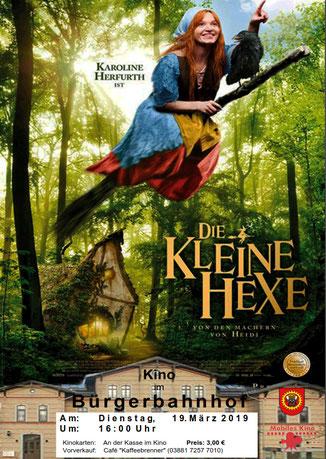 """Plakat Kino """"Die kleine Hexe"""" Wald Fliegende Hexe"""