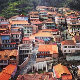 Tbilissi, capiale de la Géorgie - la vieille ville