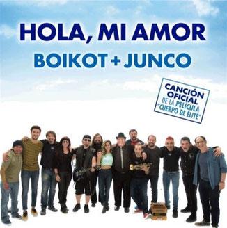 Cartelera de Boikot donde Junco interpreta Hola Mi amor