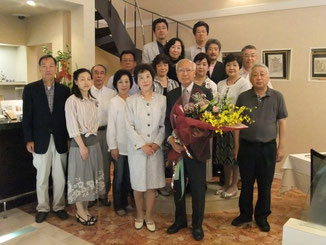 松田章一先生と少知会メンバー