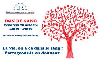 Don de sang - Mairie de Vélizy-Villacoublay